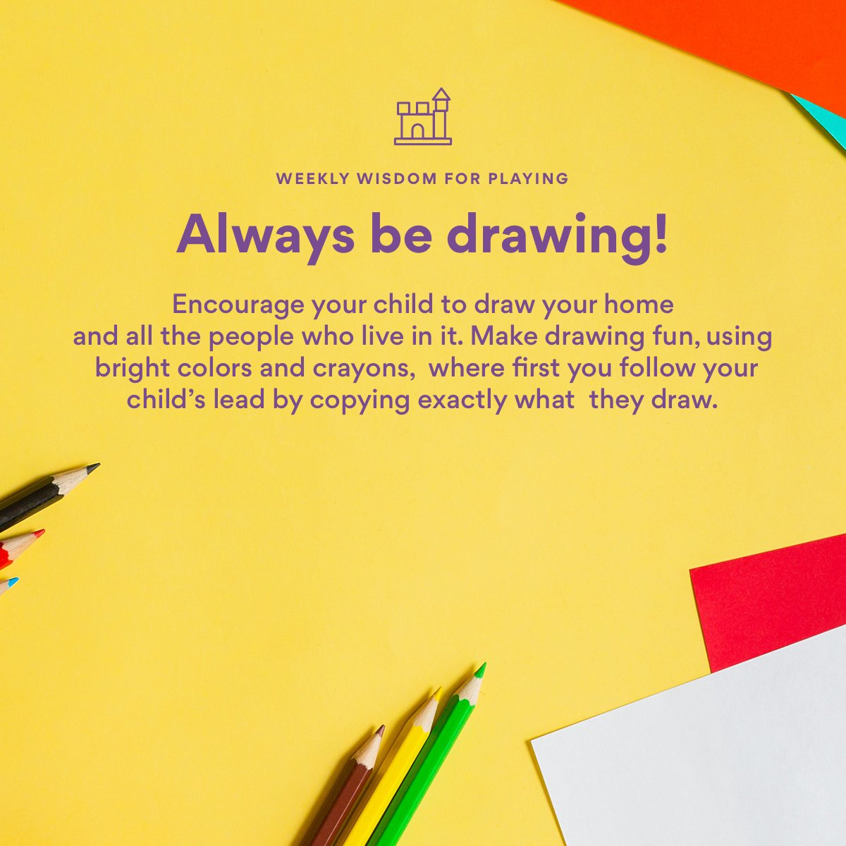 One of the most easily overlooked such skills is drawing. Especially kids who sometimes have difficulties speaking find drawing to be a great way of expressing themselves.   Does your child enjoy drawing? Post an example of your child's best work.