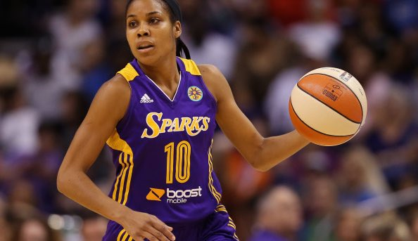 "So cool, via @ramonashelburne.   Team makes Lindsey Harding second #WNBA  player ever hired for full-time #NBA scouting position.   Brett Brown: ""Lindsey is a leader, and she is a welcomed addition to the 76ers family. I look forward to working with her.&quot;   http://www. espn.com/nba/story/_/id /24397430/philadelphia-76ers-hire-former-duke-wnba-star-lindsey-harding-full-scout &nbsp; … <br>http://pic.twitter.com/NAlvsKoUx5"
