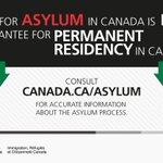 Image for the Tweet beginning: Seeking refugee status? Canada doesn't