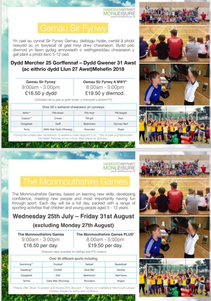 #MonGames18 this week has seen a total of 543 attendances. Since our summer provision started 1,821 attendances have been recorded with children participating in sport and physical activity. There is still time to join the fun, contact your local Leisure Centre to book! #MonSport<br>http://pic.twitter.com/aM2EWOVjym
