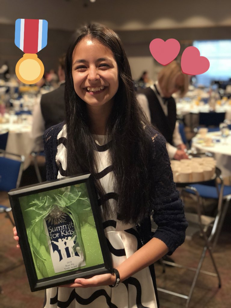 Congratulations to @KingJames' 330 Ambassador Lulu on winning the 2018 Summit for Kids Russ Pry Youth Award for her work and dedication to the youth in the Akron Community. You make us proud to say #WeAreFamily!   #IPROMISE <br>http://pic.twitter.com/8YMWyx1mxO