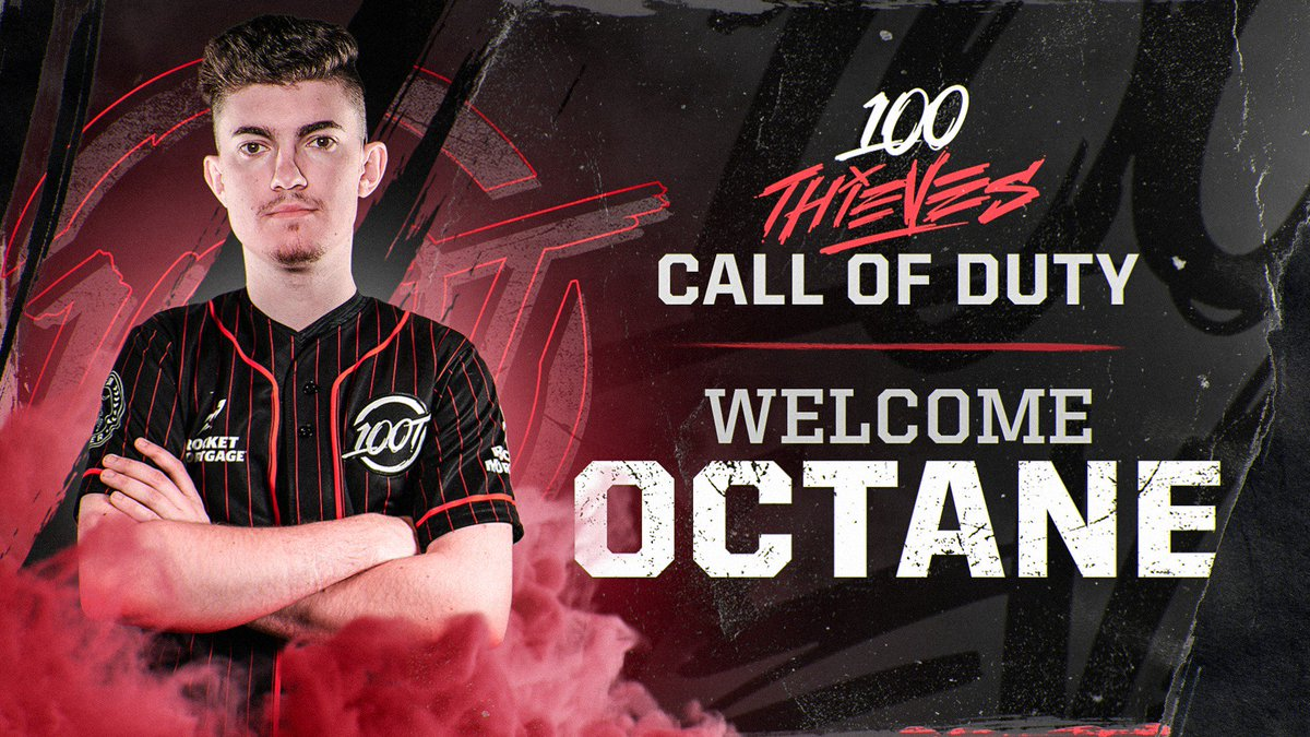 Announcing the third member of our professional Call of Duty team.  Welcome to 100 Thieves @Octane_  #100T #HonorAmongThieves