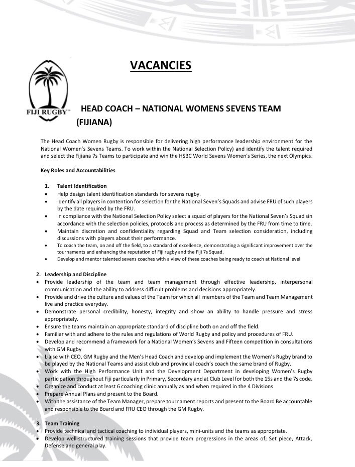 Rugby Vacancies on Twitter: