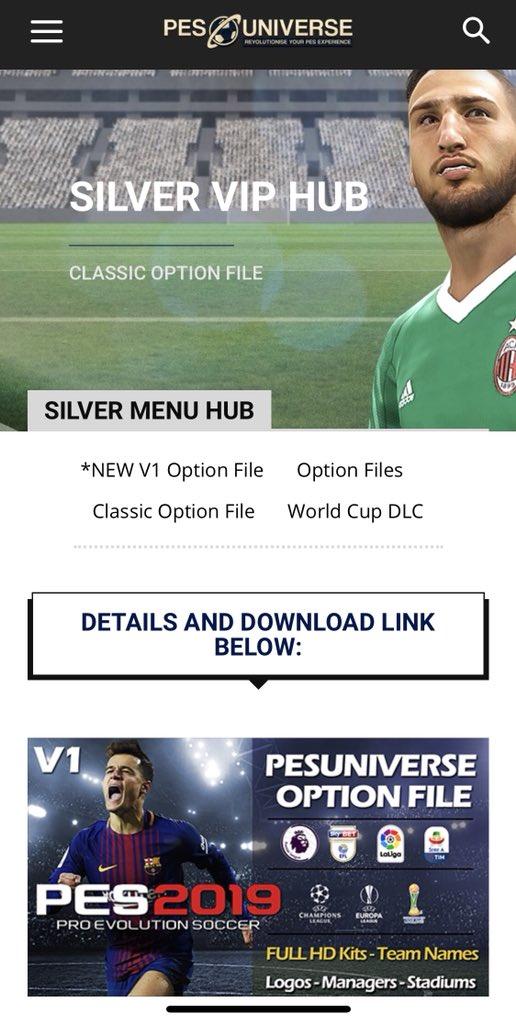 Download Option File Pes 2019