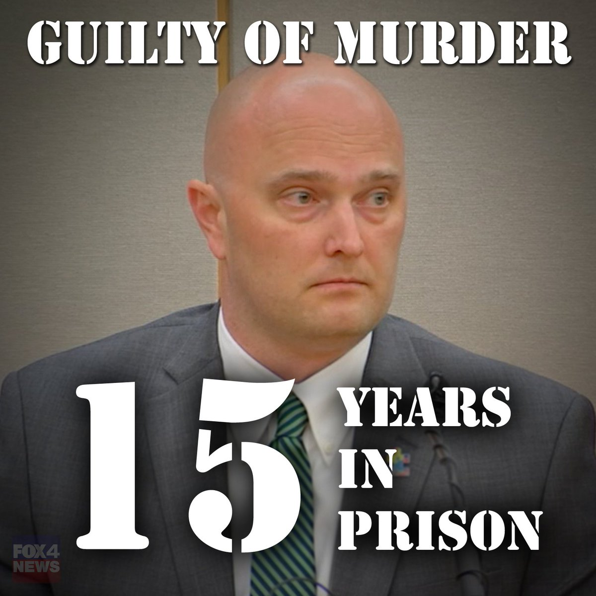 Breaking Ex Balch Springs Officer Roy Oliver Sentenced To 15 Years In Prison And