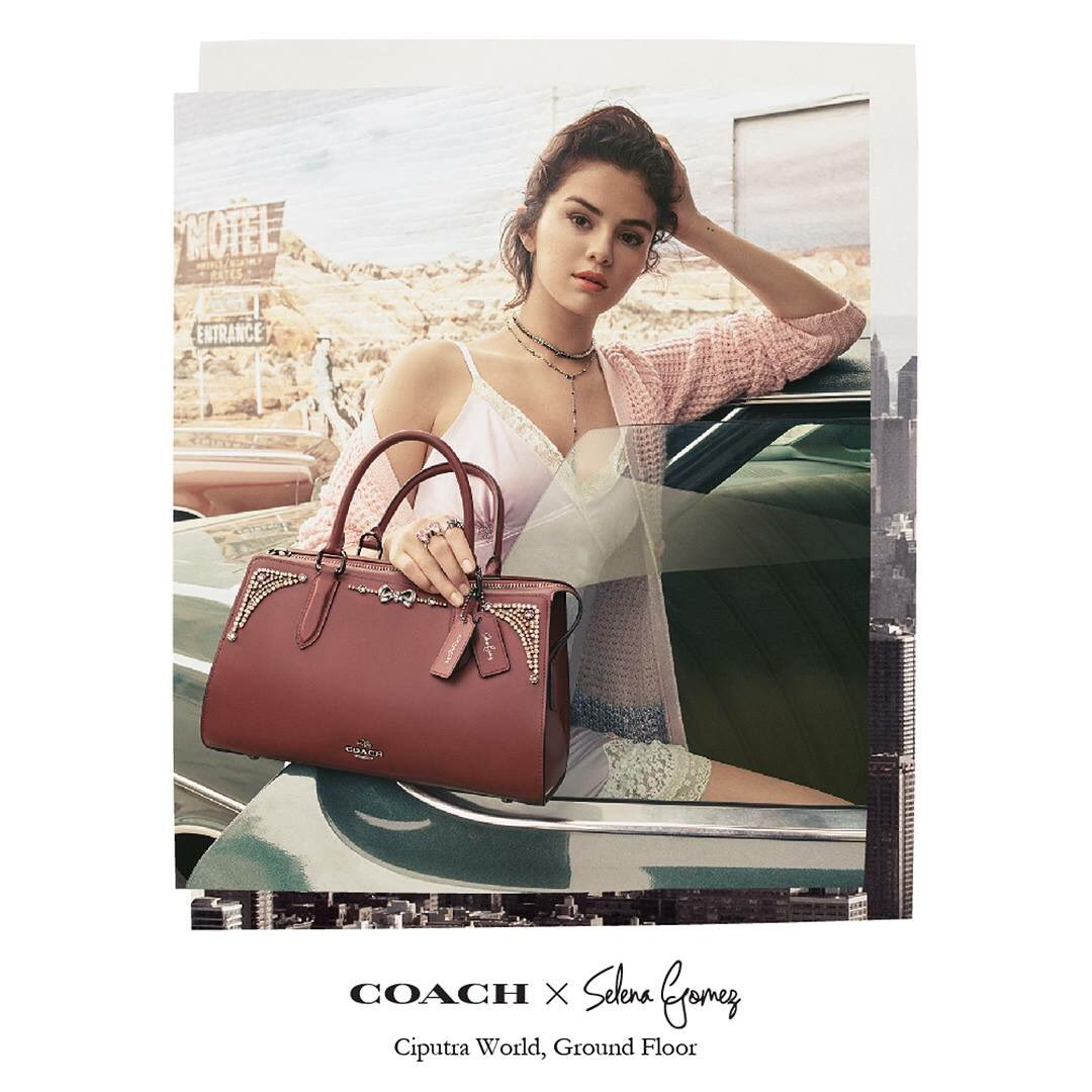 News Alert  COACH x Selena Gomez limited edition collection is finally here!  Discover Selena Gomez s collection of bags 4219c4b25d117