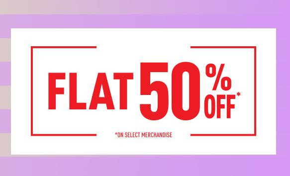 RelianceTrends -  Flat 50% Discount On Selected Products + Rs.500 off on Rs.1500