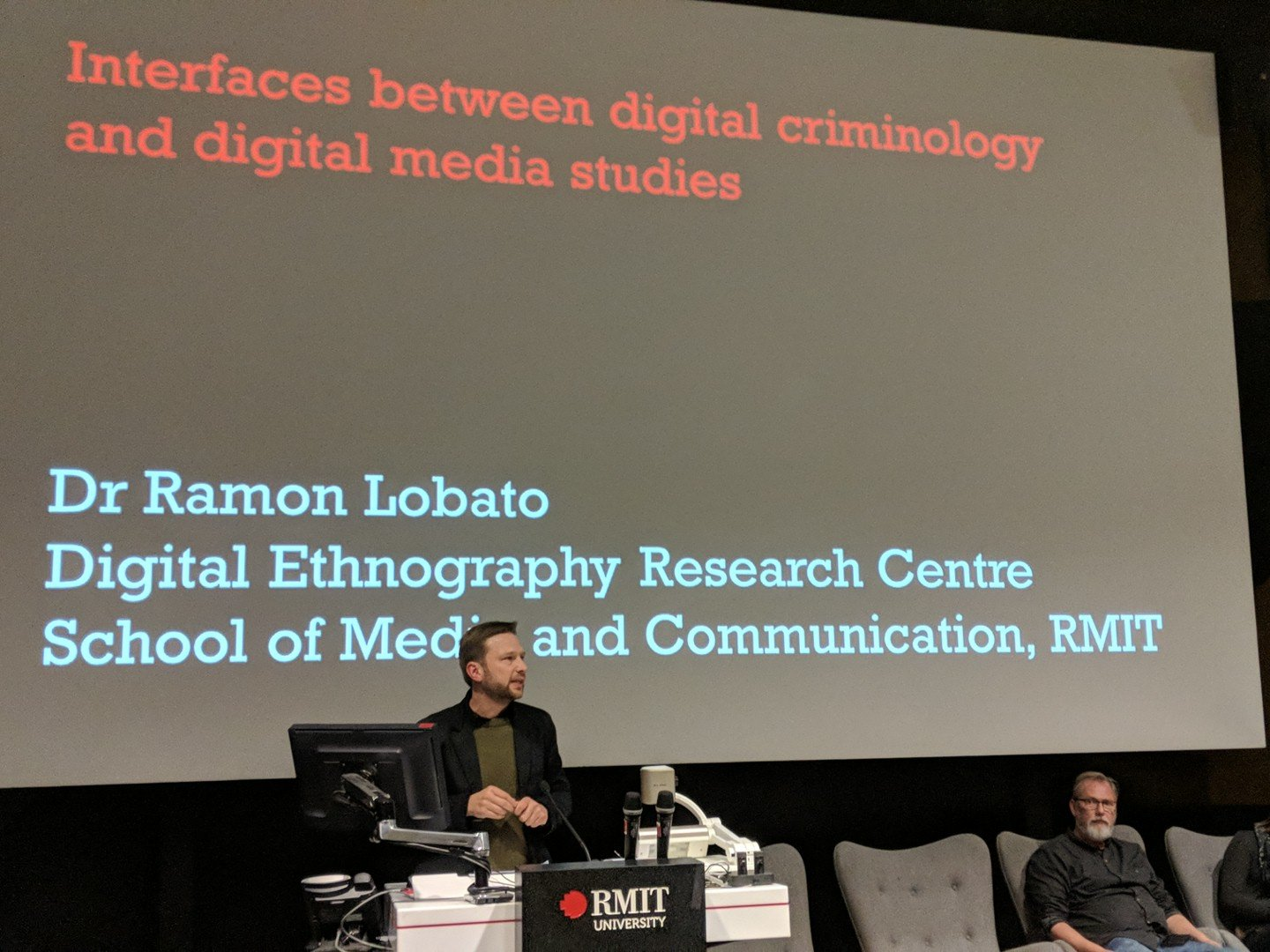 """Digital Criminology on Twitter: """"Ramon Lobato (Digital Ethnography Research  Centre, RMIT) speaking to the overlapping interests between criminology and  media/cultural studies when it comes to the 'digital turn' #DigiCrim  @SGSC_RMIT… https://t.co ..."""