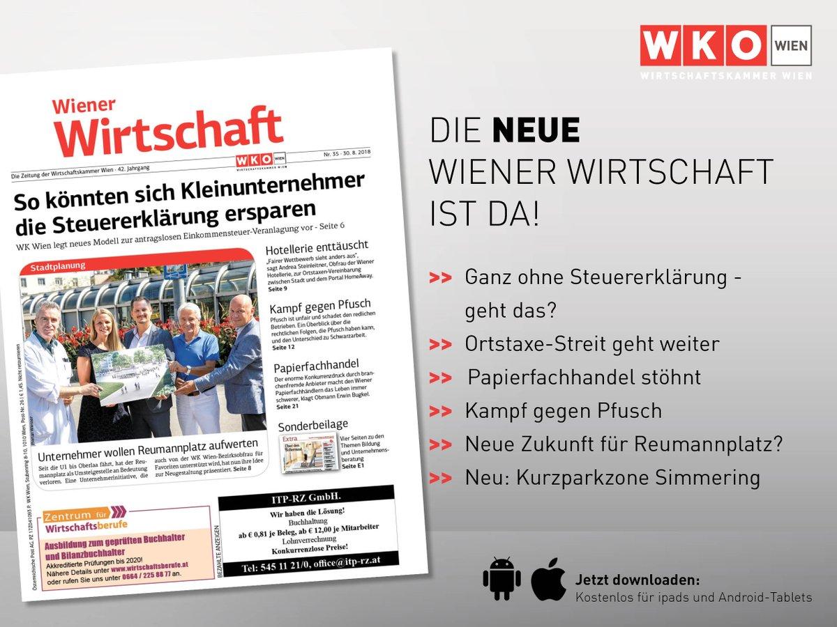 Wirtschaftskammer W On Twitter Morgen Im Postkasten Und Heute