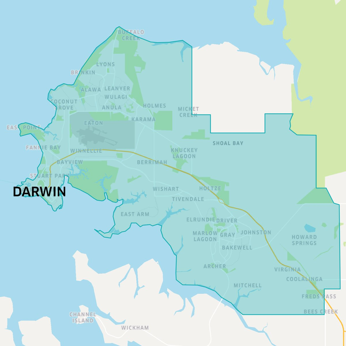 Darwin Map Of Australia.Uber Australia On Twitter Darwin We Re On The Map Your Reliable