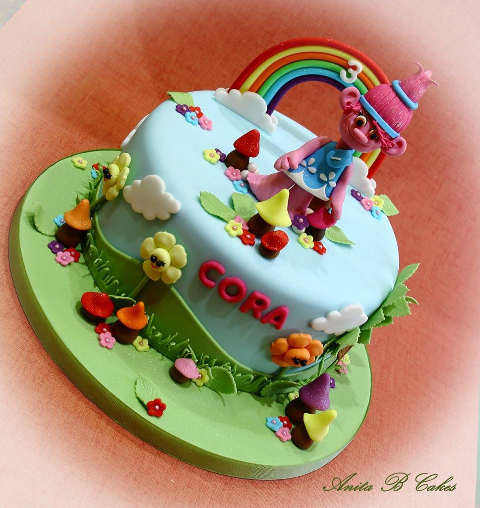 Anita B Cakes On Twitter This Lovely Troll Rainbow Themed