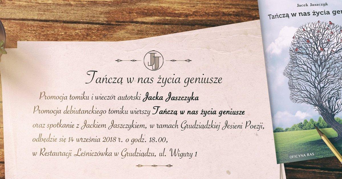 Jacek Jaszczyk On Twitter Promocja Tomiku Wierszy Tańczą