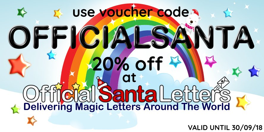 Santa claus officialsanta twitter visit my official santa letter website today and use voucher code officialsanta for 20 off your santa letter order spiritdancerdesigns Images