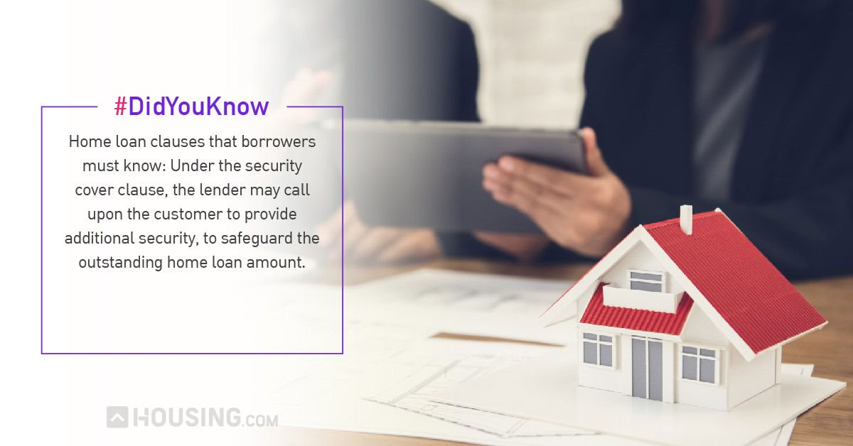 Housing On Twitter Home Loan Agreement Important Clauses That