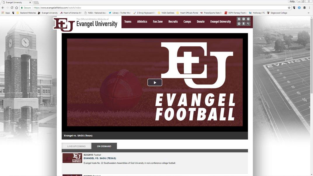 Evangel Football on Twitter: