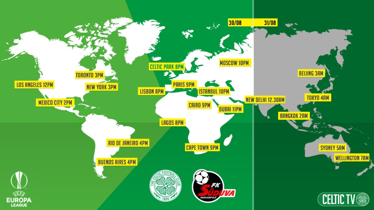 Celtic Football Club On Twitter Celsud Kick Off Times Around