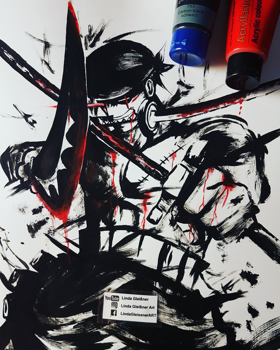 Linda Gleissner On Twitter Zorro Fanart A3 Lana Bristol Used A Template Only Addsome Blood Acrylic My Favorite Swordsman Anime Animeart