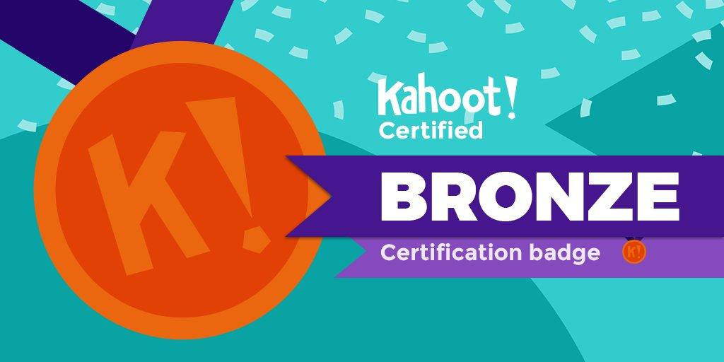 I aced bronze on #KahootCertified!🥉👉 @GetKahoot @PartridgeElem #partleads