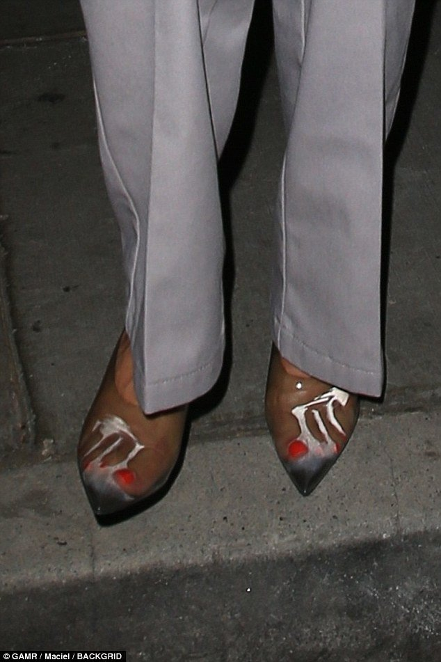 eb8ff72a87 ... Kourtney Kardashian was wearing some amazing archive Margiela  hand-painted Egon Schiele-esque heels but in fact.....she's just sweating  in clear plastic ...