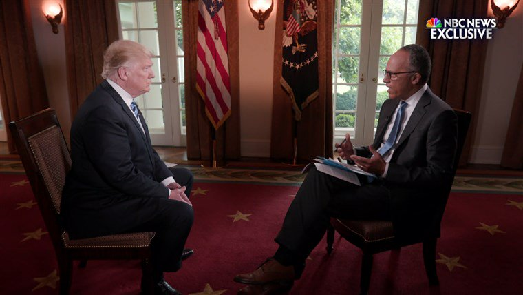 Trump claims without evidence that NBC altered his 2017 interview https://t.co/Be40c4fcMK https://t.co/ajXLiwihTF