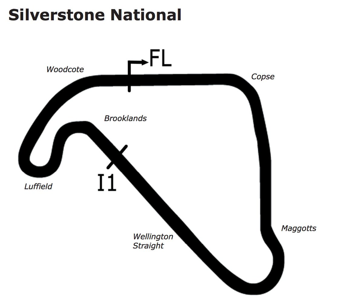 Oli Rushby On Twitter Heres The Official Circuit Map For Circuitmap Silverstoneuk National Estimate Is That Lap Times Will Be Between 50 55 Secs