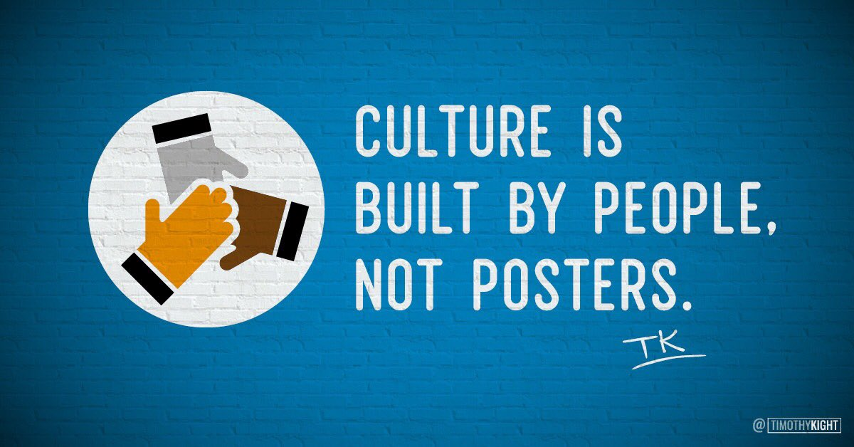 A core values statement helps clarify the culture, but it doesn't build the culture.