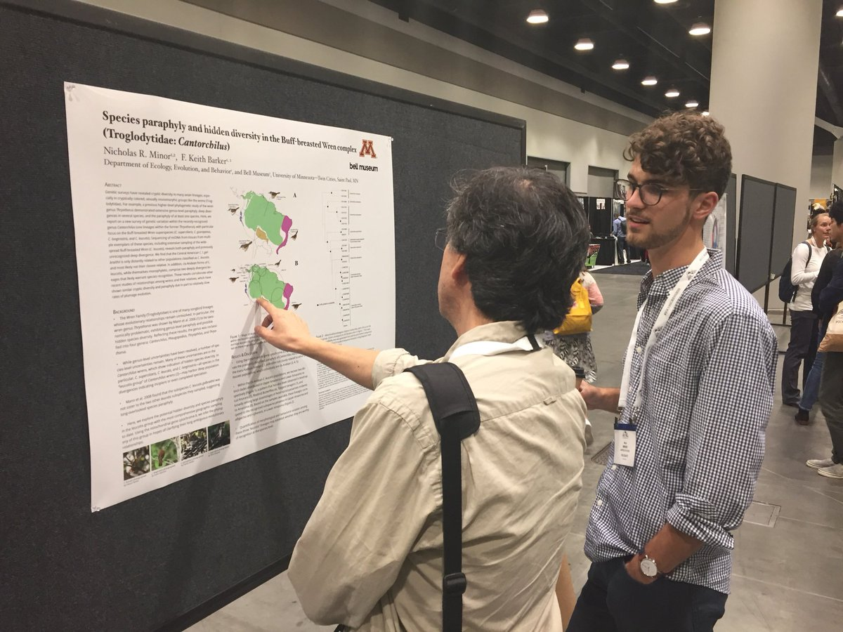 At the recently concluded @IOCongress2018, Nick Minor (right, plaid shirt) presents his research on the Buff-breasted Wren complex. The @ABA thanks Nick for representing the association. Look for Nicks coverage of the event, appearing in the Oct. 2018 issue of @BirdingMagazine!