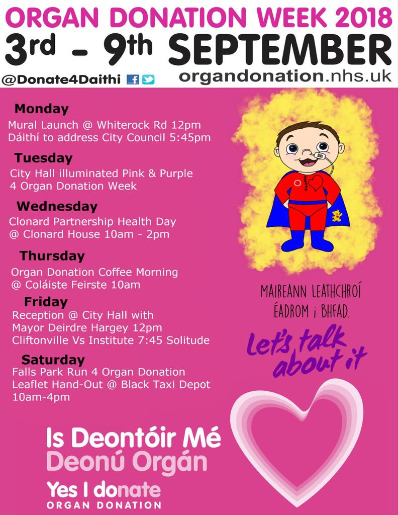 Donate4dáithí On Twitter Organ Donation Week 2018 We Have