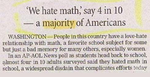 Resultado de imagen de math newspaper