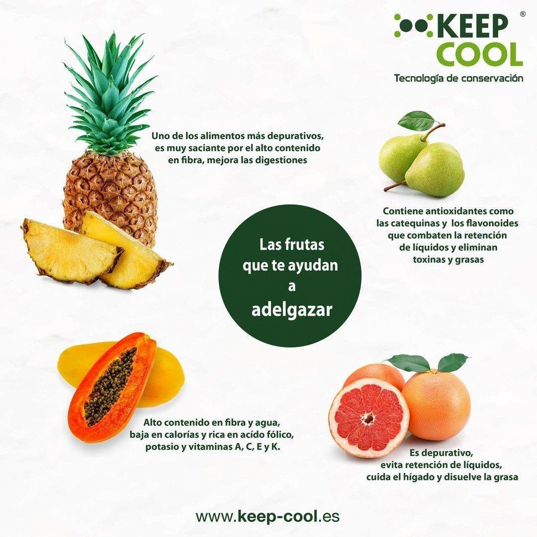 Frutas para adelgazar y verduras