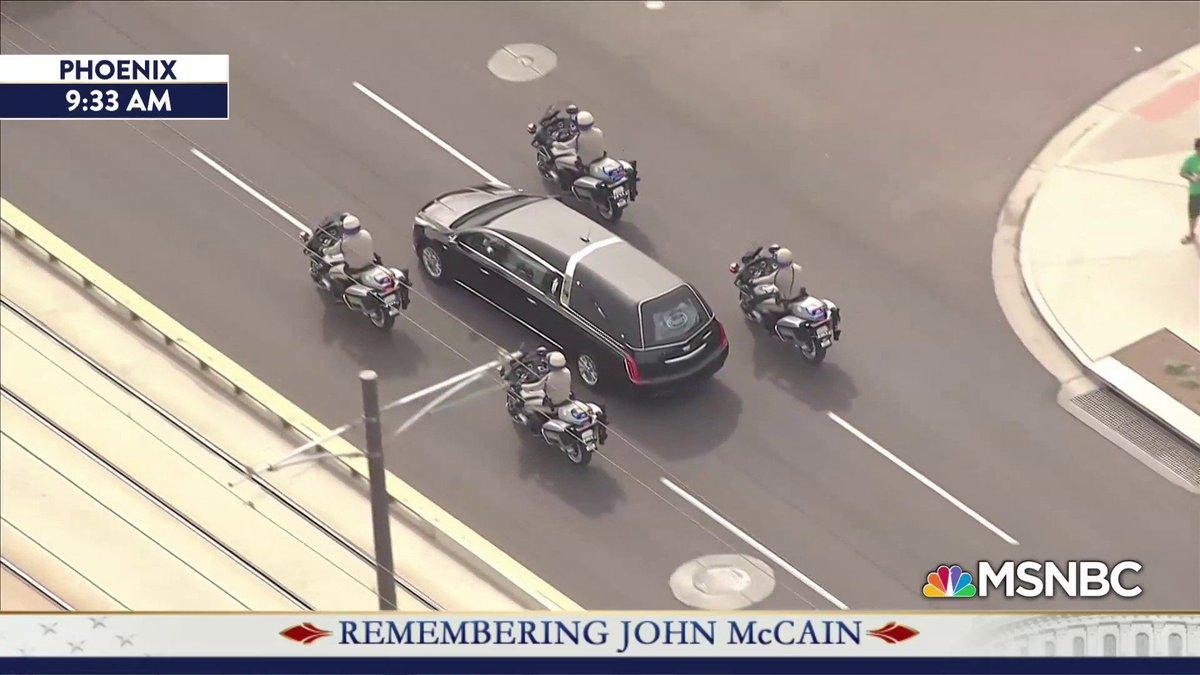 55a13fb94c Remembering John McCain  The Arizona memorial service. Live now on  MSNBC.