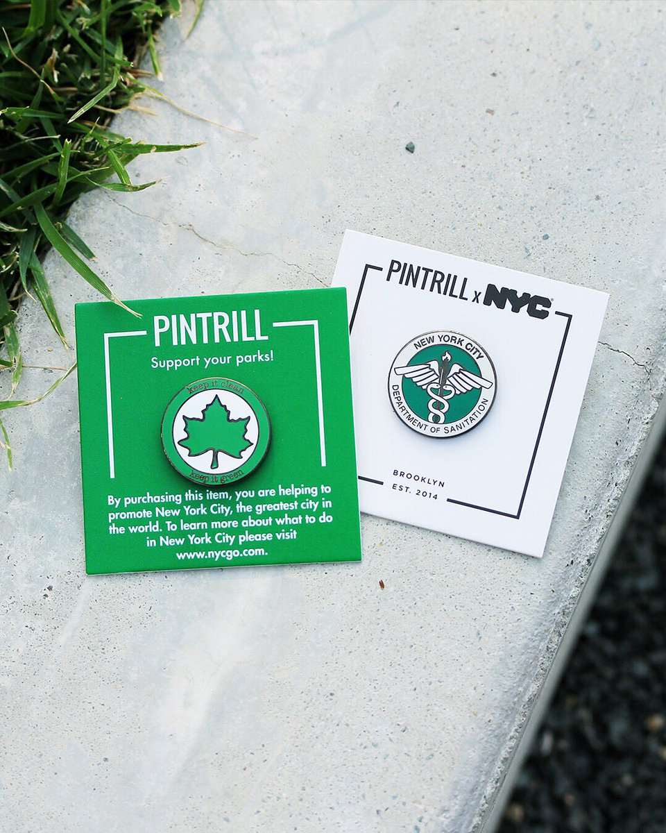 #PINTRILL x @nycgo 🌳 Weve teamed up with NYC & Company on a pin set to commemorate the NYC Parks and Sanitation Departments! bit.ly/2Pm3Wct We have also created an NYC Parks scavenger hunt where you can participate and get a free pin once the hunt is complete!