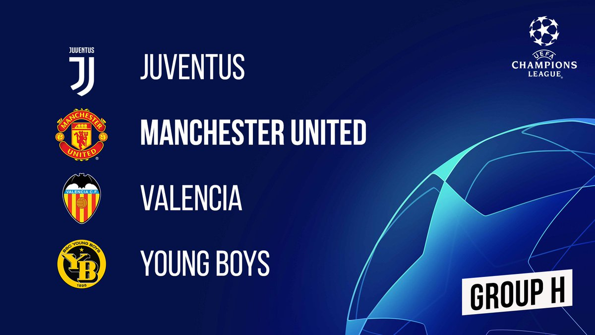 Our @ChampionsLeague group-stage opponents... #UCLdraw