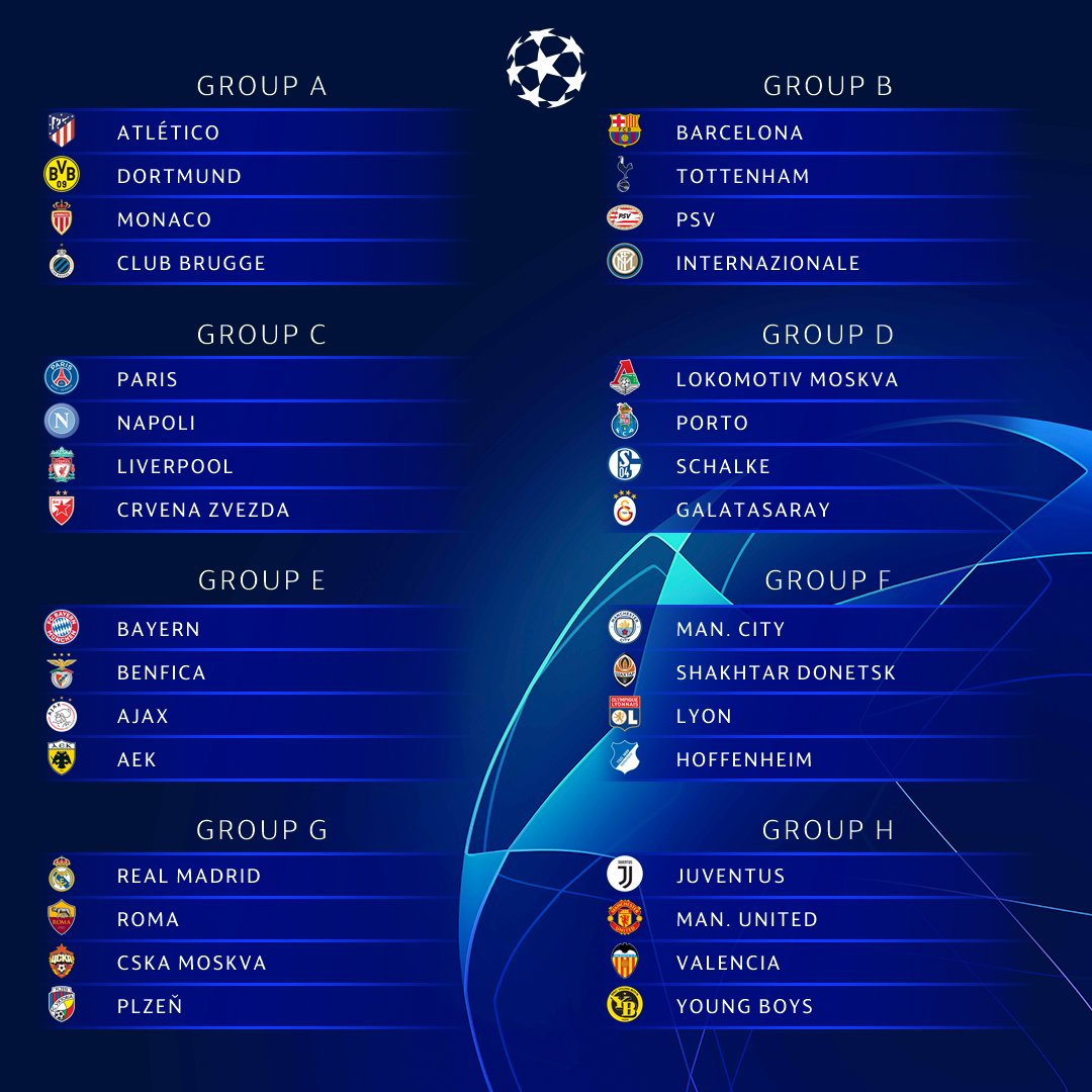 The official result of the #UCLdraw! 🤩  Toughest group? 🤔