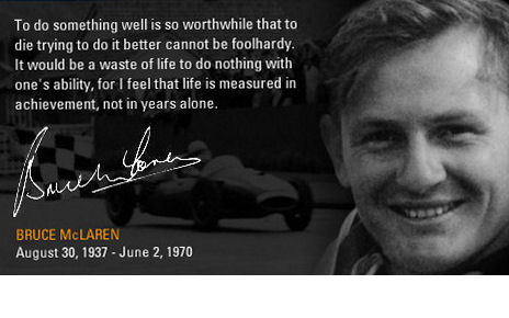 Happy birthday to amazing man Bruce McLaren.