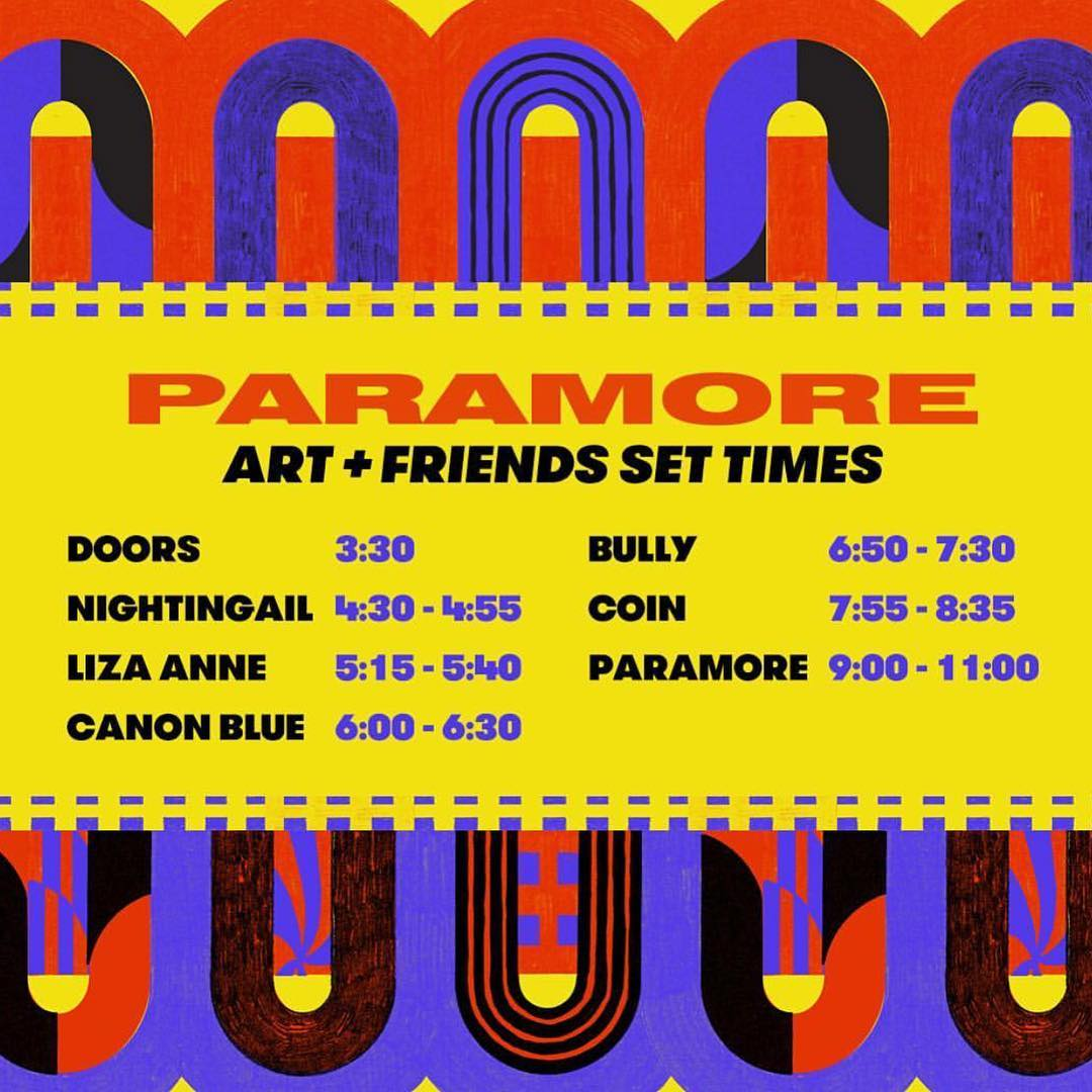set times for Art + Friends!! see yall soon. tix at https://t.co/sGlxSSt3w8 ��❤️������ https://t.co/vocDy3aC9Y