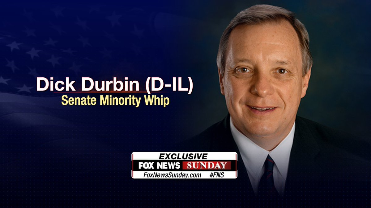 EXCLUSIVE: Dick Durbin (D-IL), Senate Minority Whip live this Sunday #fns #foxnewssunday