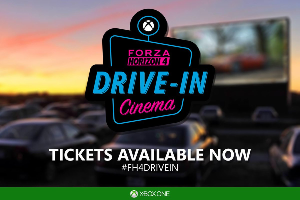 Tickets for the Forza Horizon 4 Drive In are AVAILABLE NOW! #FH4DriveIn  Find out more and get your tickets here - https://t.co/rKHG40zXoK https://t.co/9YtadfwQmw