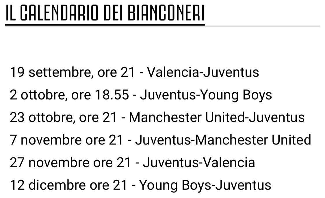 Calendario Delle Partite Della Juventus.Juventus Fans On Twitter Il Calendario Completo Con Gli