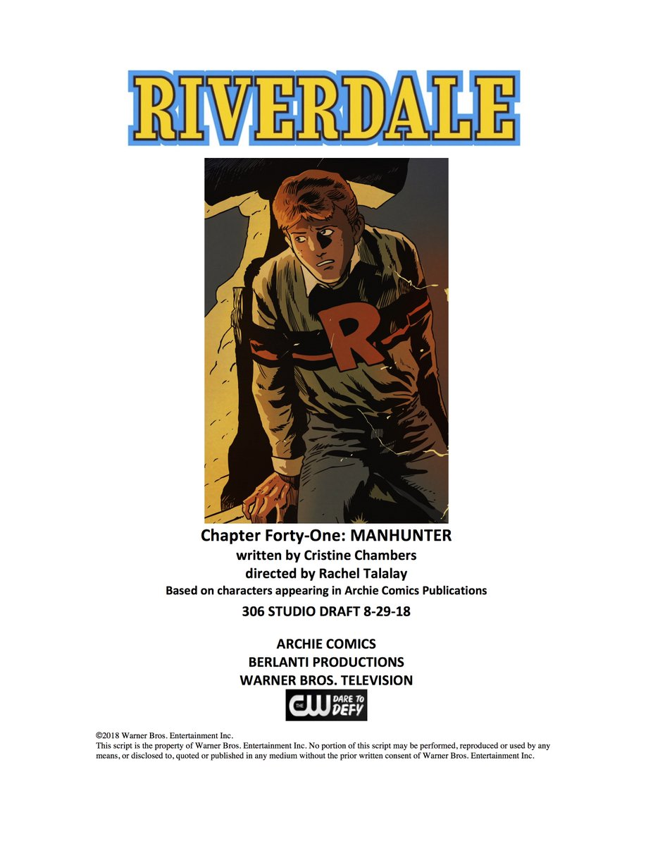 Chapter 41 of our Great American Epic as the town of #Riverdale pursues one of its own…