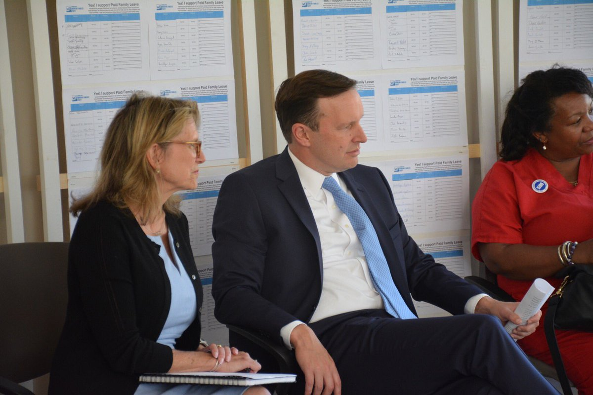 Chris Murphy On Twitter Today I Sat Down With Juliekushner18 To Talk About How Paid Family And Medical Leave Would Help Families In Connecticut Https T Co Wtbbhpzxny