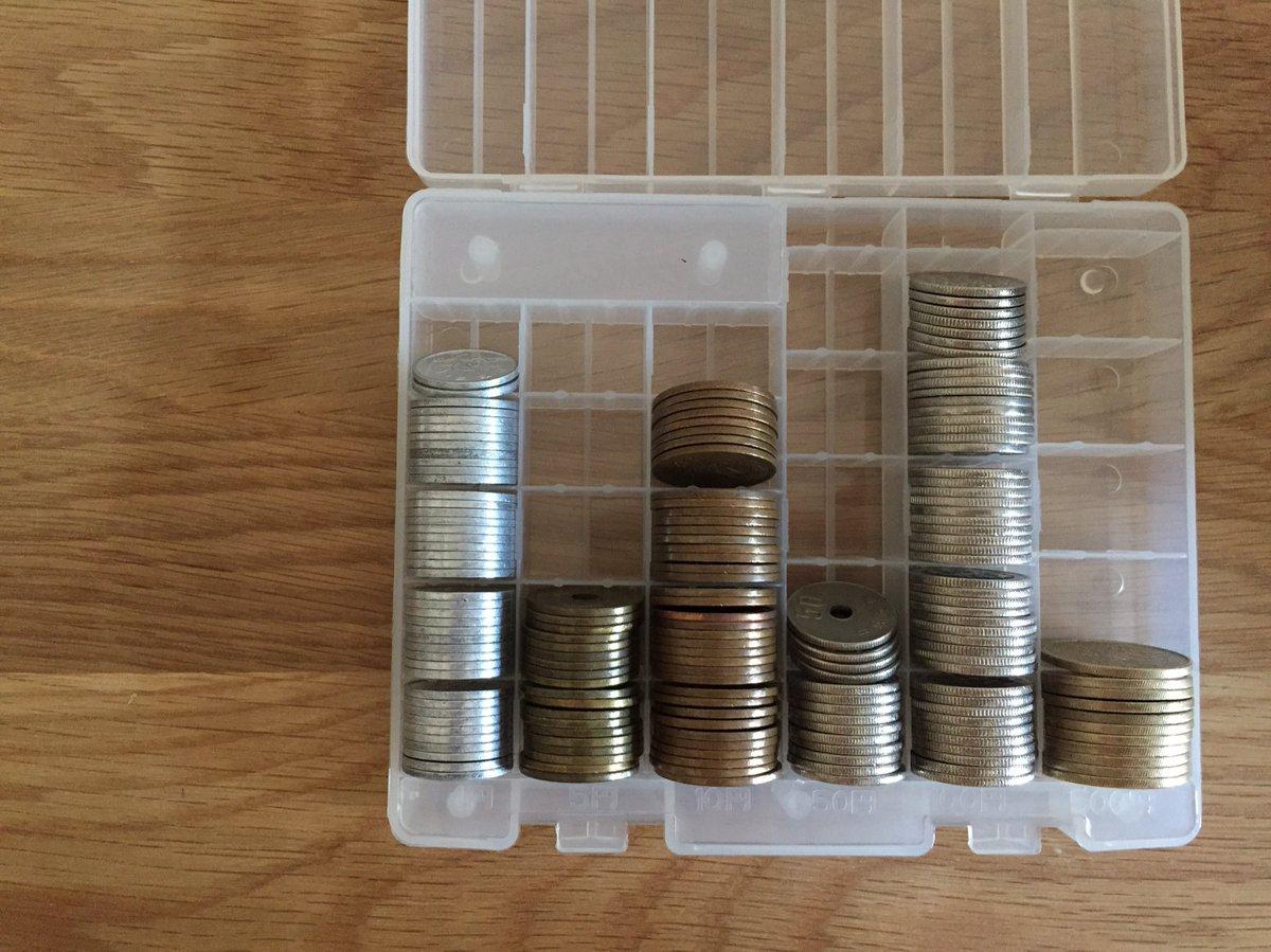 test ツイッターメディア - これだけで、ふつうに買い物に行けそう。ズボラに巾着ポーチに入れてたけど、今日セリアでステキな入れ物に出会えた!#硬貨 #収納 #セリア https://t.co/mx9yDcZPlQ