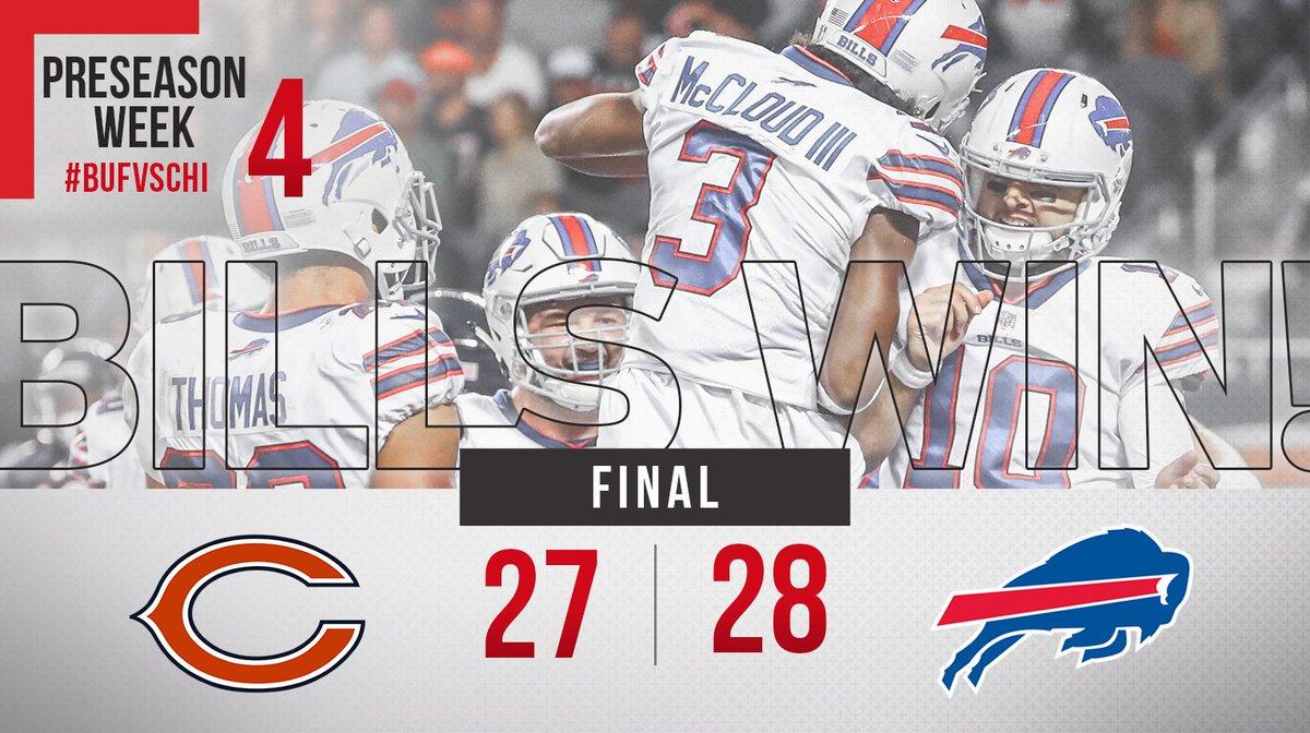 Bills pull off huge rally to beat Bears in preseason finale