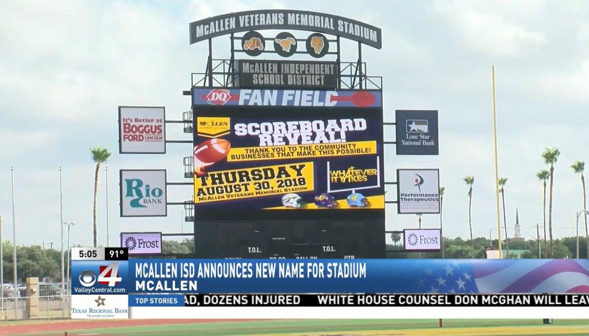 Cbs 4 News On Twitter Mcallen Isd S Veterans Memorial Stadium
