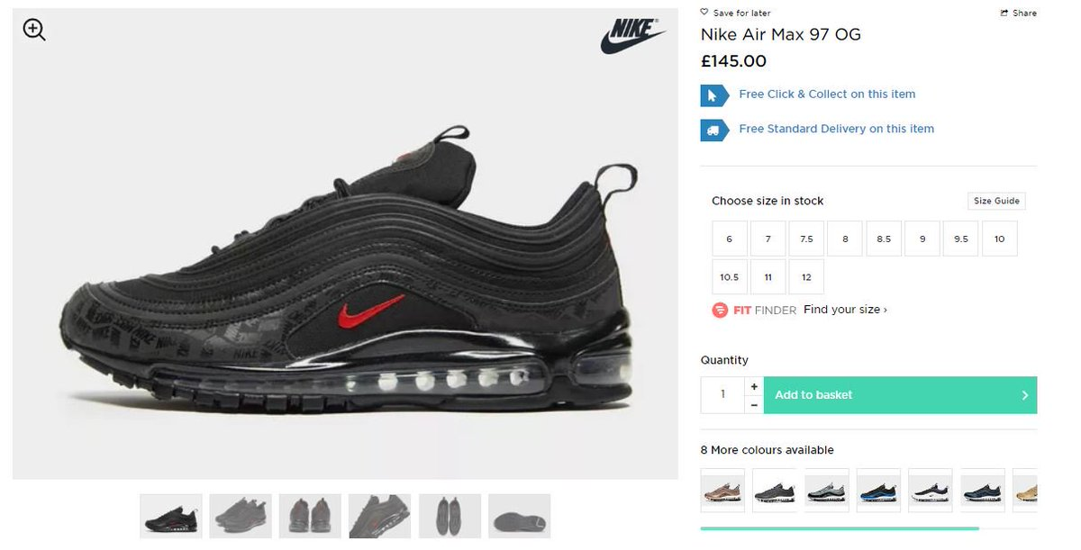 Nike Air Max 97 Ul '17 Mens 918356 800 Size .com