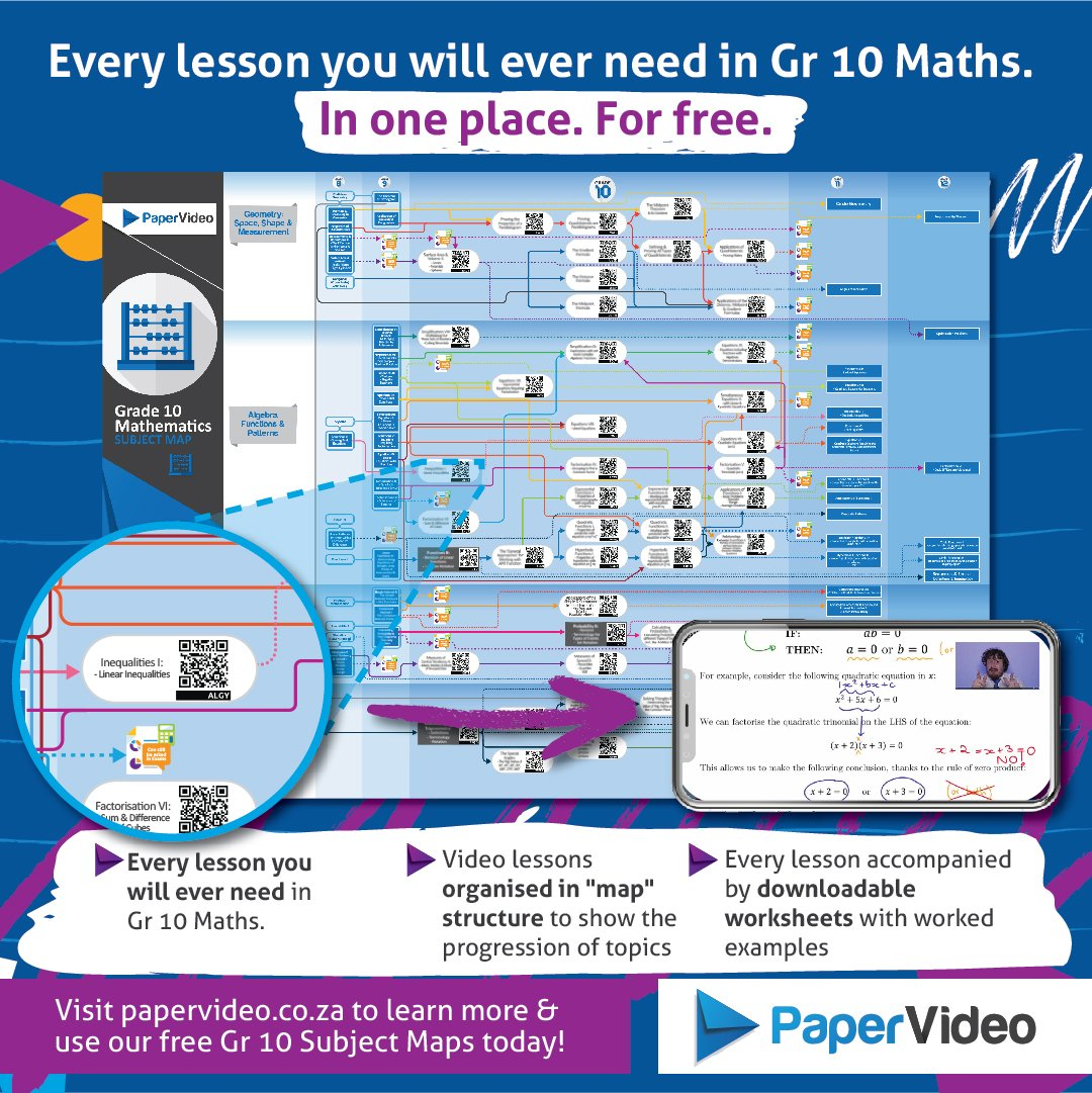 Paper Video On Twitter Do You Need Help With Grade 10 Maths Our