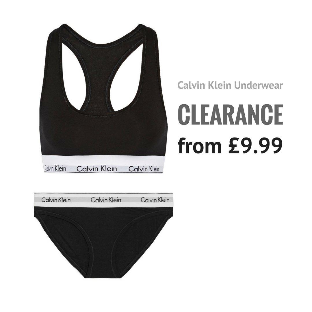 Calvin Klein clearance sale from £9.99 Now at http   bit.ly 2PUbhkE   calvinklein  underwear  sale  moderncotton  victoriassecret  womensfashion   lingerie ... 50710a63a