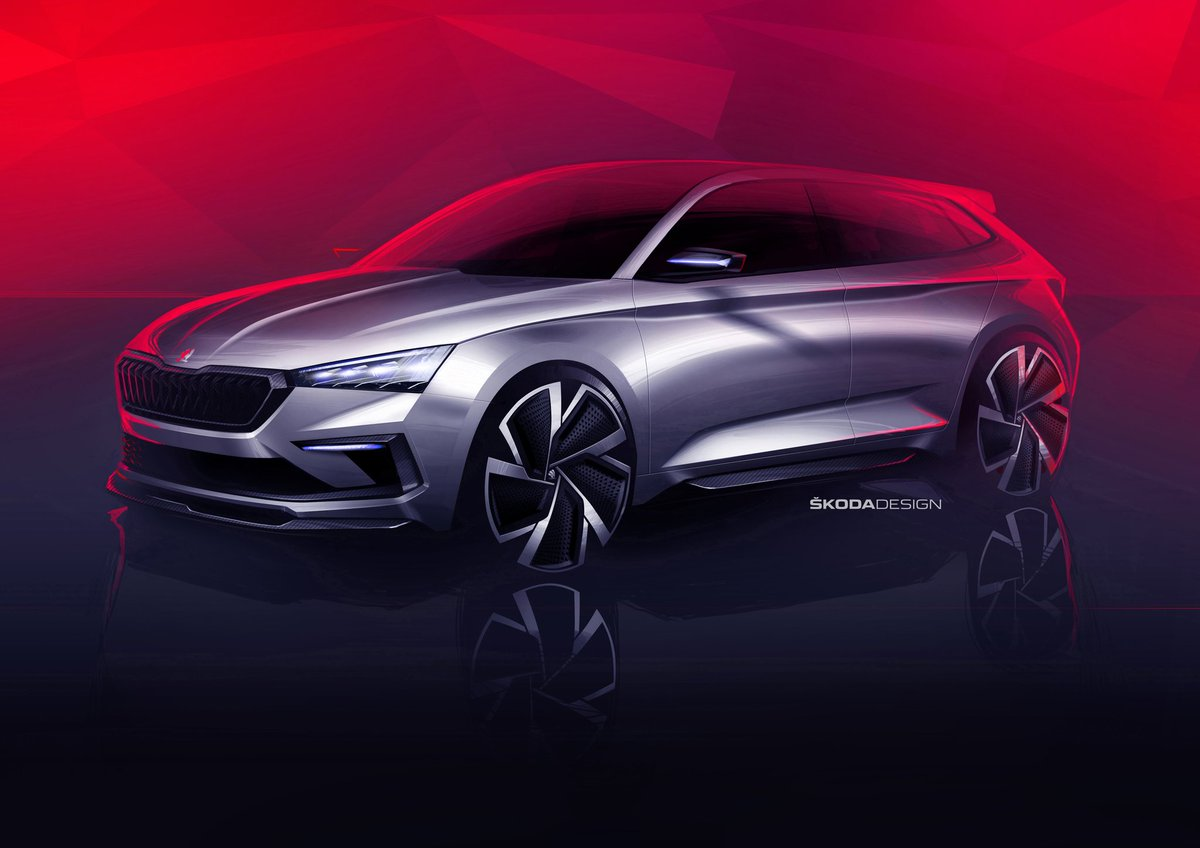 Urbane Magazine On Twitter Skoda Reveals Its Brand New Concept Sketch For The Vision Rs Compact Car The Car Will Be Unveiled At The 2018 Paris Motor Show Skoda Skodaindia Motorsport Parismotorshow
