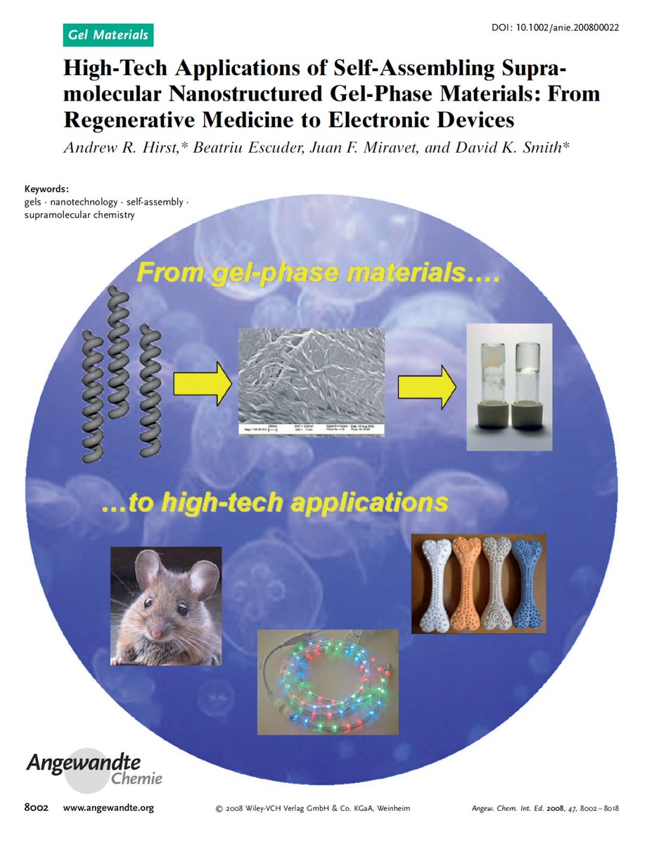 David K Smith On Twitter In 2015 We Realised Combining Self Molecular Assembly Nanotechnology Assembling Gels With Polymers Offered Significant Advantages Although This Was Emerging