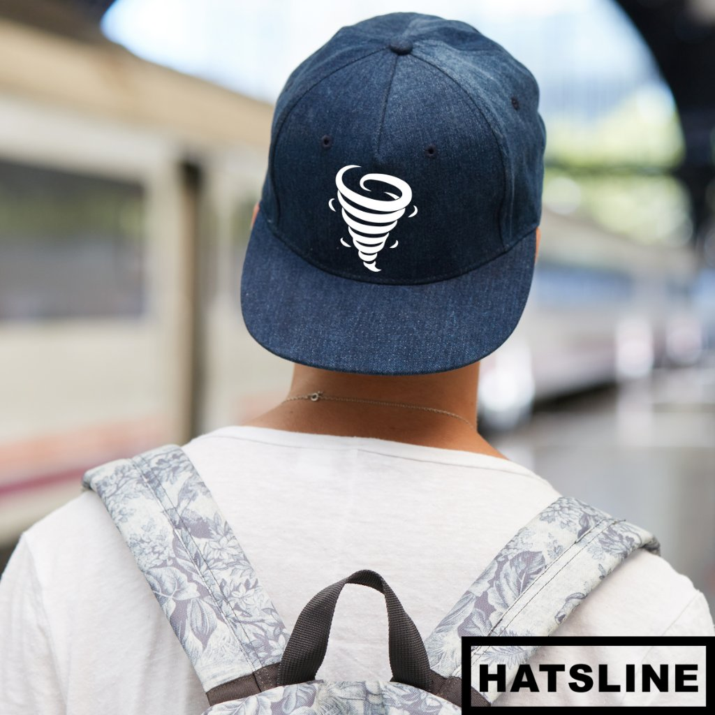 HATSLINE Tornado Embroidered Snapback Hat designer by  Mcmamac https   www. hatsline.com collections newests products tornado-clothing-snapback-hat-3 … 1590678c9da3